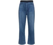 Weite Jeans mit Kontrastbund