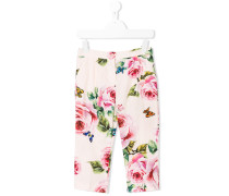 rose print trousers