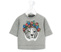 T-Shirt mit Tiger-Print - kids - Baumwolle