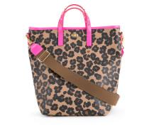 Shopper mit floralem LeopardenPrint
