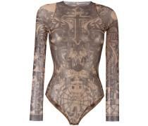 Body mit Tatoo-Print - women - Polyamid/Elastan