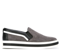 Gestreifte Slip-On-Sneakers