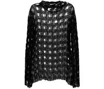 Pullover mit Lochstrickmuster - women