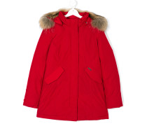 Teen faux fur-trimmed padded parka