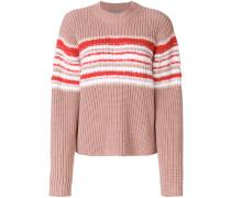 ribbed contrast knit jumper