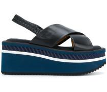 sling-back wedge sandals