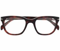 Eckige Sonnenbrille in Schildpattoptik