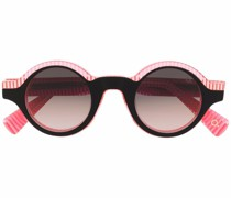 Runde Sonnenbrille mit Streifen