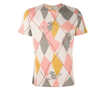 T-Shirt mit Rautenmuster