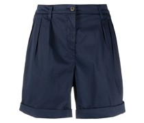 Halbhohe Plissee-Shorts
