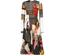 Patchwork-Kleid aus Chiffon
