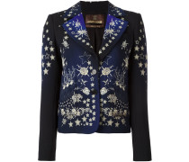 star print fitted jacket
