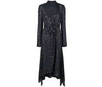 Jacquard-Trenchcoat mit Leopardenmuster
