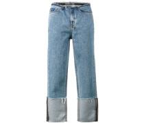 straight n narrow raw hem jeans