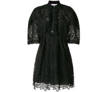 lace short-sleeve shirt dress