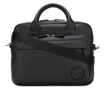 embossed logo briefcase
