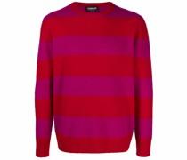 Pullover mit Streifen-Print