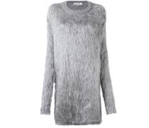 Langer Pullover mit Pelz-Effekt