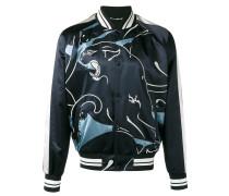 lion print bomber jacket