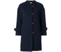 buttoned high neck coat