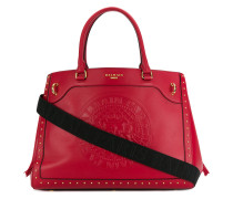 studded embossed logo tote