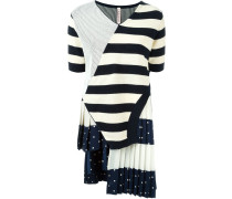 patch striped knitted top