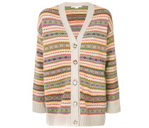 stripe patterned cardigan