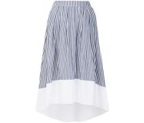 striped flared skirt