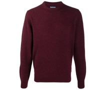 patch crew neck jumper