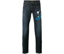 "Jeans mit ""Xylofonist""Print"