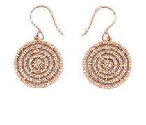 14kt 'Icon Aura' Rotgoldohrringe mit Diamanten