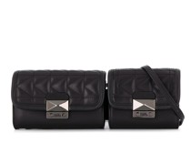 K/Kuilted double belt bag