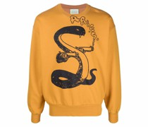 Sweatshirt mit Schlangen-Print