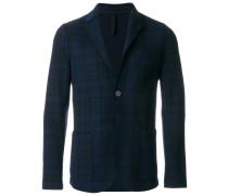 fitted tartan blazer
