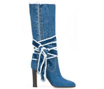 Jeans-Stiefel mit Knotendetail - women