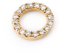 Ringanhänger mit Diamanten aus 18kt Gelbgold