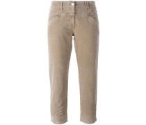 - Cropped-Hose mit ausgestelltem Bein - women