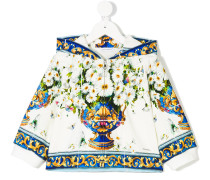 'Vase Fiori' Jacke mit Kapuze