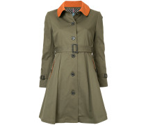 contrast collar single breasted coat