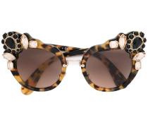 Cat-Eye-Sonnenbrille mit Schmucksteinen - women