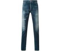 Schmale Jeans im UsedLook