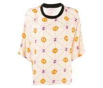 T-Shirt mit Monogramm-Print