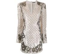 Kurzes Kleid mit Paillettenbesatz