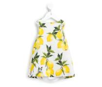 Brokat-Kleid mit Zitrus-Print