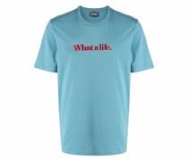 T-Shirt mit Slogan-Stickerei