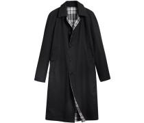 reversible gabardine and tartan car coat