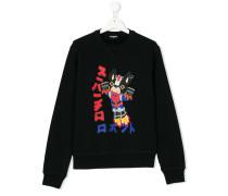 Teen bulldog print sweatshirt