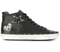Michell Swarovski embellished hi-top sneakers