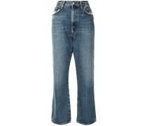 Hoch geschnittene Cropped-Jeans