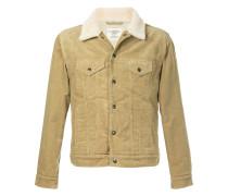 furry collar short jacket